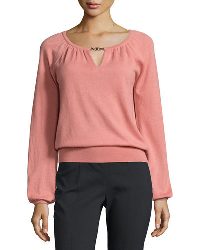 Marie Knit Keyhole Cashmere Sweater