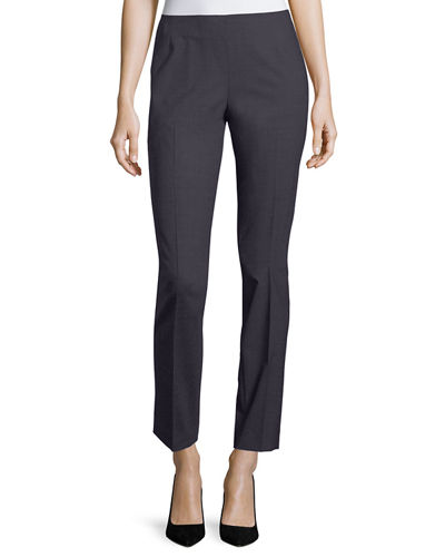 Stanton Full-Length Stretch-Wool Pants