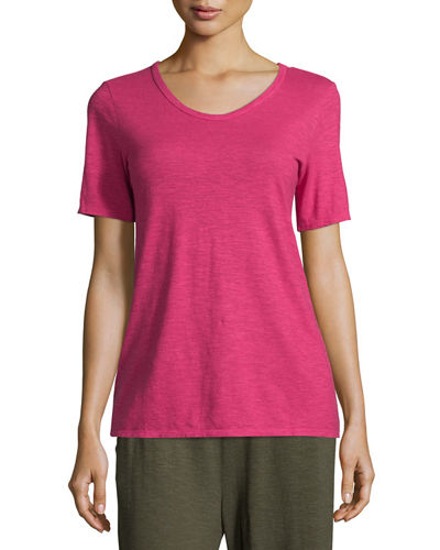 Hemp/Cotton Twist V-Neck Tee, Plus Size