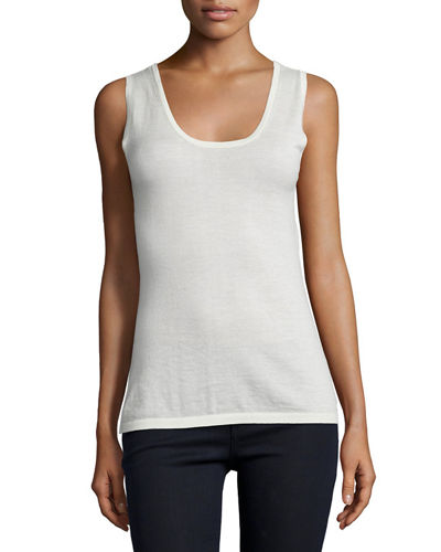 Cashmere Modern Scoop-Neck Tank