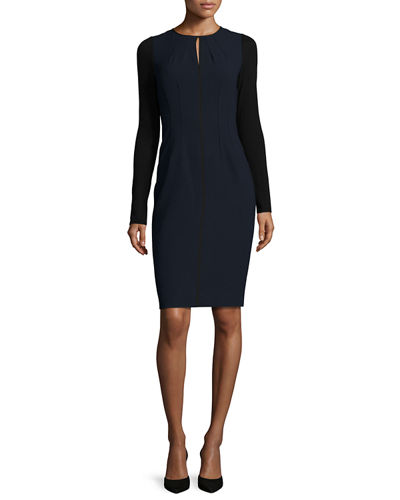 Iman Seamed Sheath Dress
