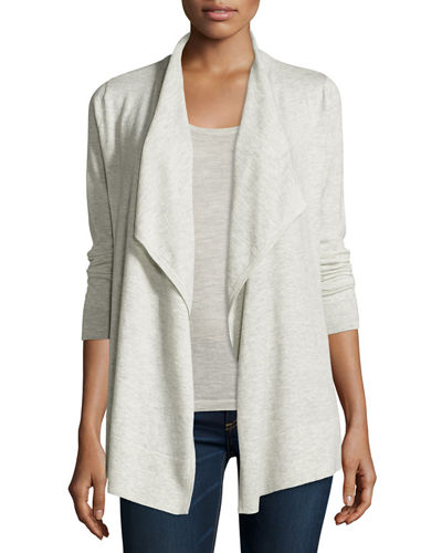 Superfine Cashmere Draped Cardigan