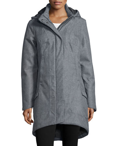 Hooded Snap-Front Parka Jacket