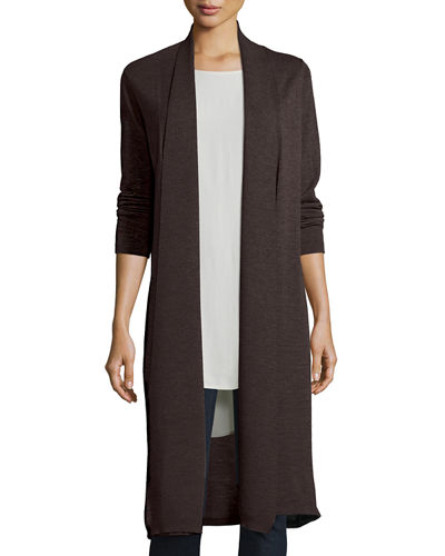 Eileen Fisher Washable Wool Kimono Duster Cardigan