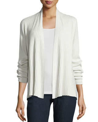 Silk/Organic Cotton Ribbed Cardigan