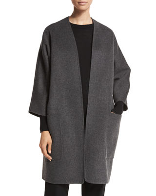Vince Reversible Wool-Cashmere Cardigan Coat