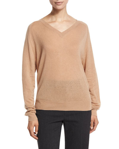 Relaxed Cashmere V-Neck Sweater