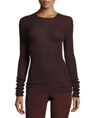 Cashmere Ribbed Crewneck Top Reviews