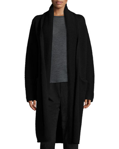 Yak-Wool Oversized Open-Front Cardigan