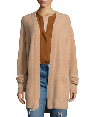 Boiled Cashmere Open-Front Long-Line Cardigan Buy