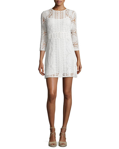 Esthee Lace Shift Dress
