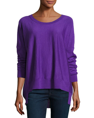 Merino Jersey High-Low Top, Plus Size