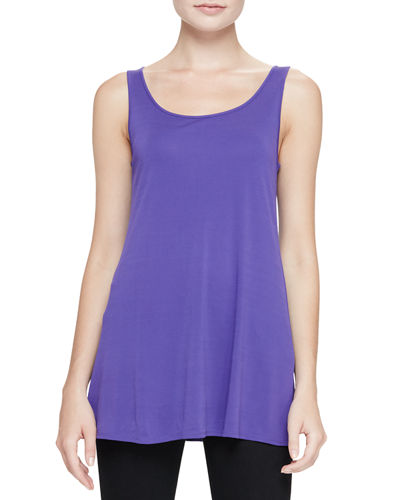 Jersey Sleeveless Scoop-Neck Tunic