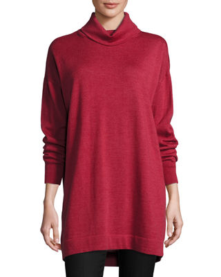 Merino Jersey Turtleneck Tunic