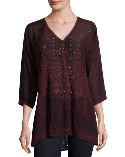 Falling Star Embroidered Georgette Blouse