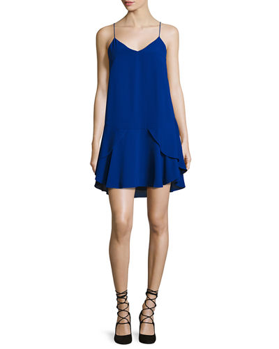 V-Neck Layered Cocktail Slip Dress
