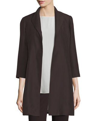 High-Collar Silk Ravine Coat