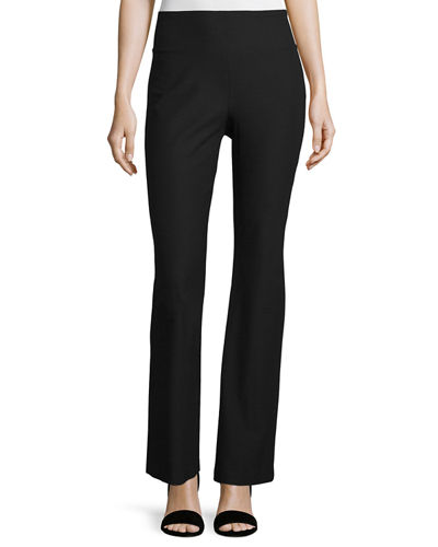 Eileen FisherStretch Crepe Boot-Cut Pants, Black