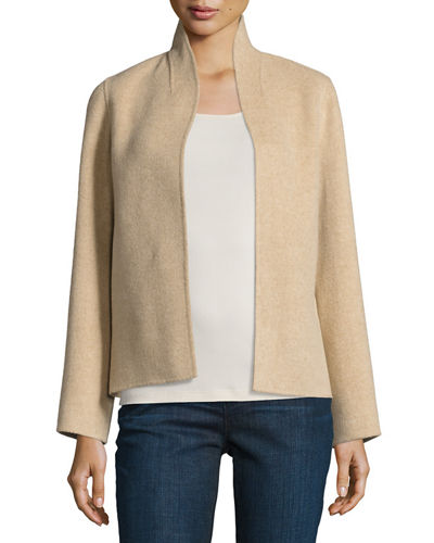 Brushed Wool Double-Faced Jacket