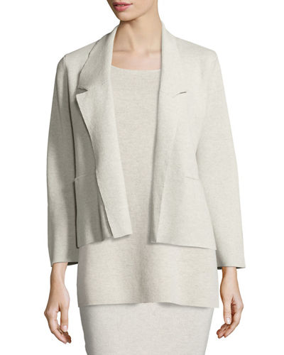 Washable Wool Short Boxy Jacket