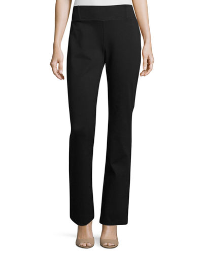 Eileen Fisher Heavyweight Slim Boot-Cut Pants