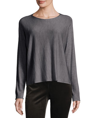 Featherweight Luxe Merino Ballet-Neck Top