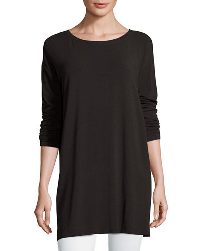 Cozy Jersey Ballet-Neck Tunic