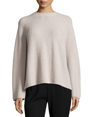 Raglan-Sleeve Merino Boxy Sweater