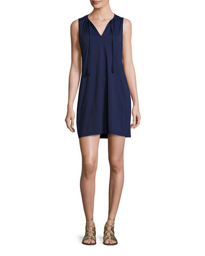 Pearl Solid Sleeveless Spa Dress