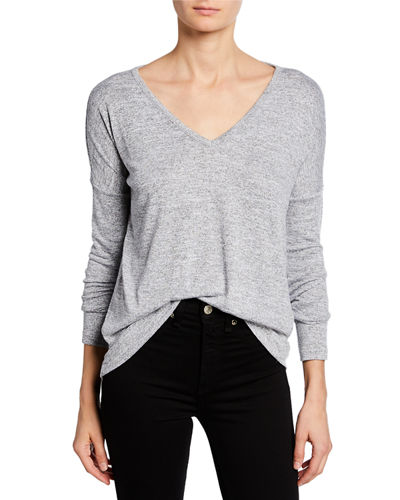 Theo Long-Sleeve V-Neck Tee