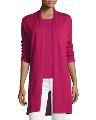 Superfine Cashmere Open Cardigan