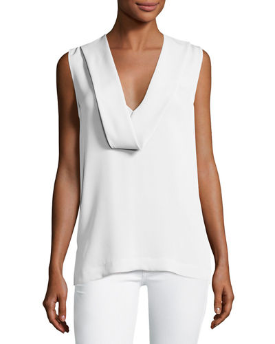 Salvatill Sleeveless Classic Georgette Top