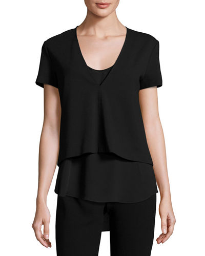 Zadeia Fixture Short-Sleeve Top