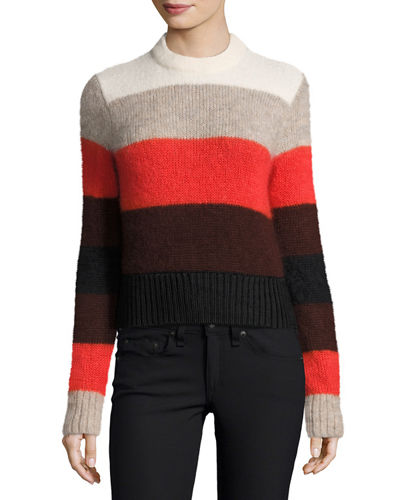 Britton Striped Ribbed Sweater