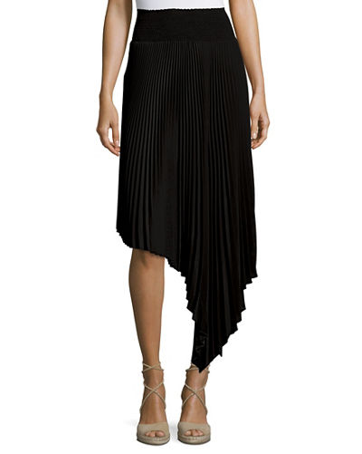 Sofia Asymmetric Pleated Midi Skirt