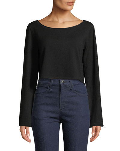 Black Cropped Sweater | Neiman Marcus