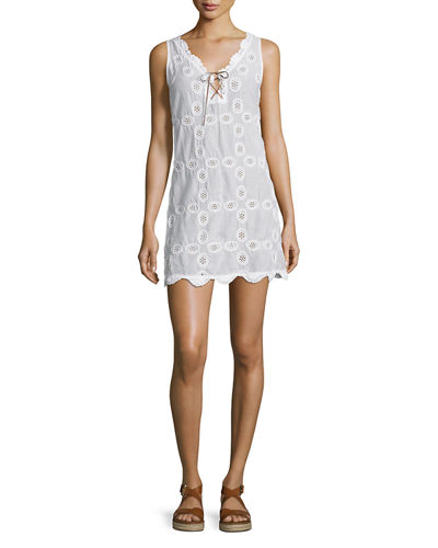 Doily Sleeveless Crocheted Shift Dress