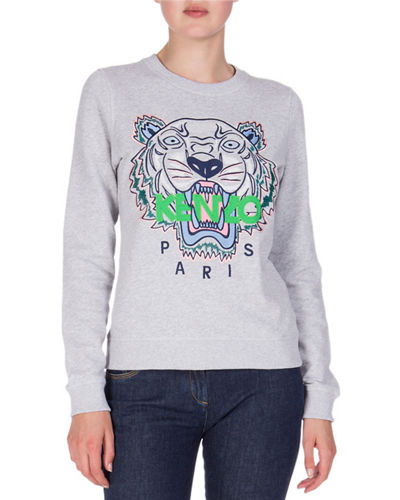 Embroidered Logo Crewneck Sweatshirt