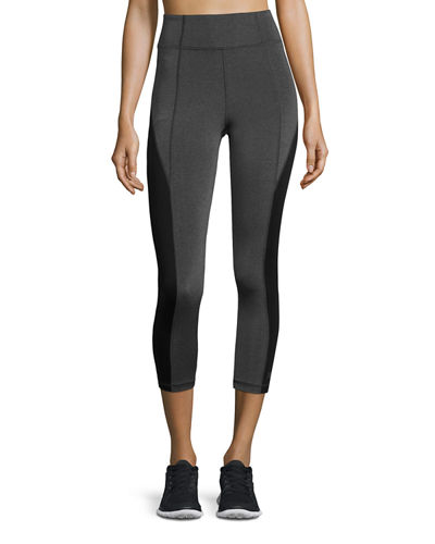 Colorblocked High-Rise Cropped Leggings