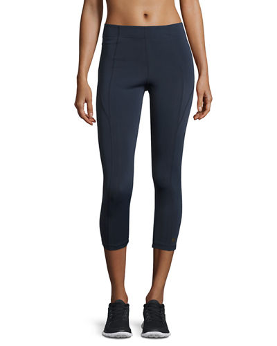 Colorblocked Mid-Rise Cropped Leggings