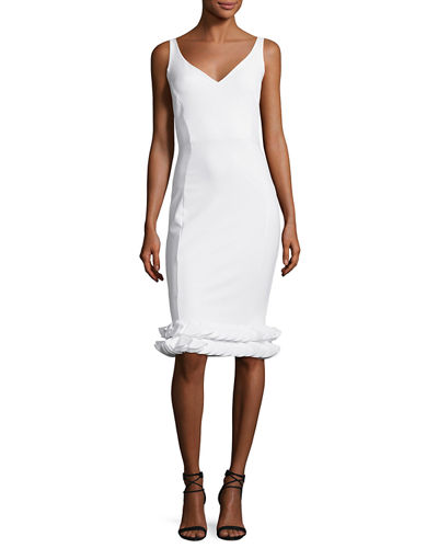 Cobie Tiered-Hem Jersey Dress