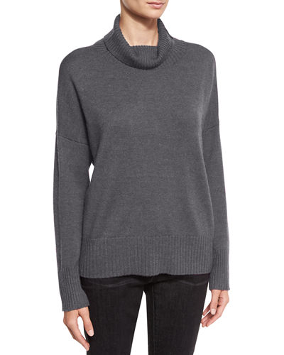 Eileen Fisher Lush Merino Boxy Turtleneck Sweater