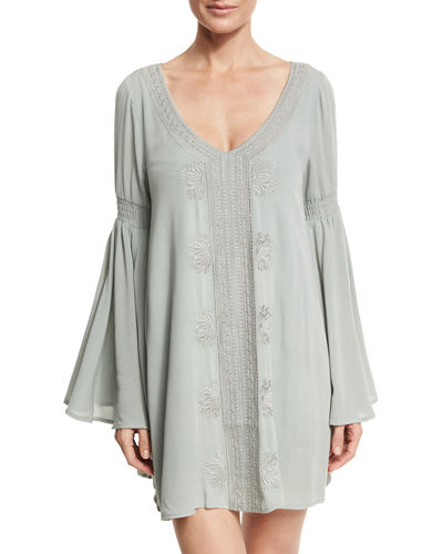 Sina Embroidered Long-Sleeve Tunic