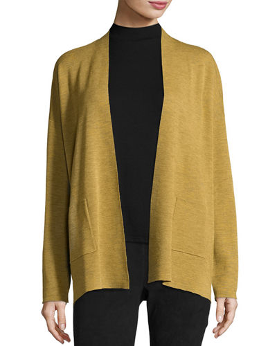 Fine Merino Wool Straight Cardigan