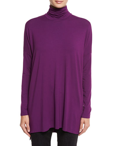 Lightweight Turtleneck Tunic, Plus Size