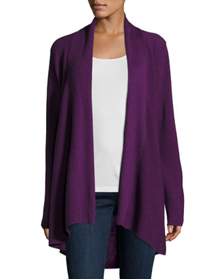Long-Sleeve Merino Stitched Cardigan