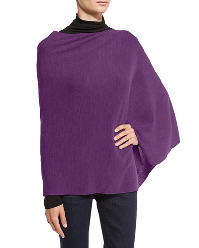 Merino Wool Links Poncho