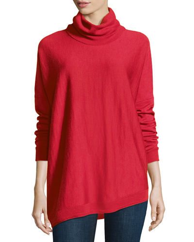 Merino Turtleneck Asymmetric Top