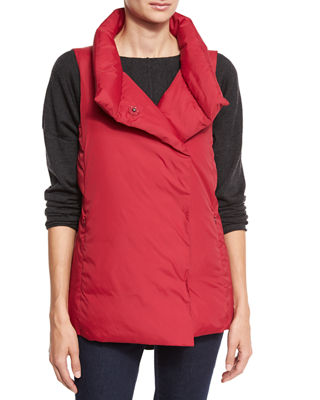 Weather-Resistant Down Puffer Vest
