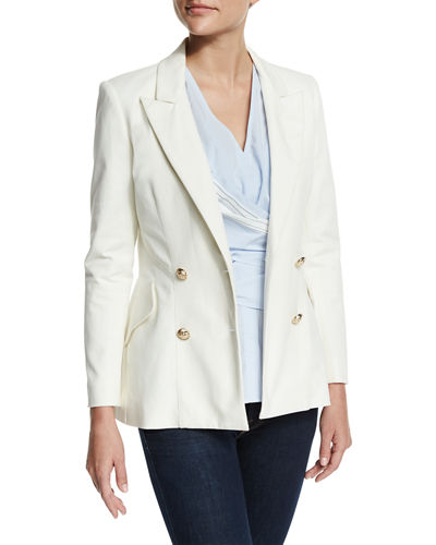 Double-Breasted Stretch Blazer
